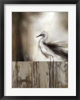 Sea Mist & the Egret Framed Print