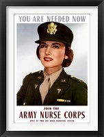 Framed Female Officer of the US Army Medical Corps