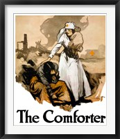 Framed Comforter - Red Cross