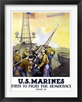Framed First to Fight for Democracy - Marines