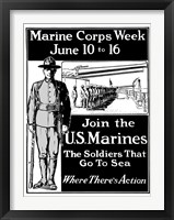 Framed Join the U.S. Marines