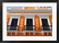 Framed Puerto Rico, Old San Juan, Colonial architecture