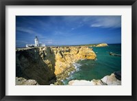 Framed Faro De Cabo Rojo Lighthouse, The Pasaje De La Mona, Puerto Rico