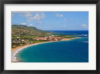Framed Half Moon Bay, Marriott Resort, St Kitts, Caribbean