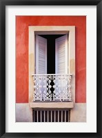 Framed White Shutters, Old San Juan, Puerto Rico