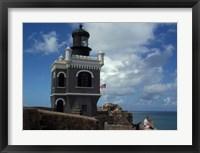 Framed Tower at El Morro Fortress, Old San Juan, Puerto Rico