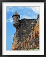 Framed Watchtower, Fort San Felipe del Morro, San Juan, Puerto Rico,