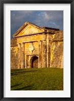 Framed El Morro Fort in old San Juan, Puerto Rico
