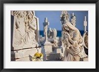 Framed Memorial Angel, Cemetery, San Juan, Puerto Rico