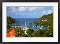 Framed Marigot Bay, St Lucia, West Indies, Caribbean