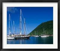 Framed Frenchmans Cay, Tortola, British Virgin Islands, Caribbean
