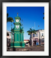 Framed Circus and Berkeley Monument, Basseterre, St Kitts, Caribbean