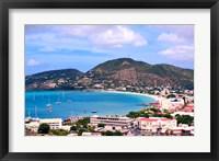 Framed Philipsburg, St Maarten, Caribbean