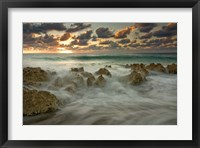 Framed Cayman Islands, Waves near George Town, sunset, beach