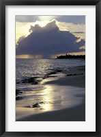 Framed Rouge Beach on St Martin, Caribbean