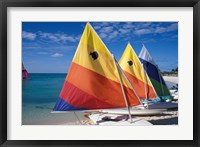 Framed Sailboats on the Beach at Princess Cays, Bahamas
