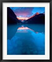 Framed Alberta, Banff NP, Victoria Glacier, Lake Louise