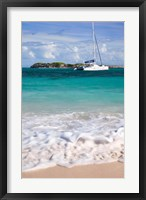 Framed Catamaran off Orient Beach, St Maarten, West Indies