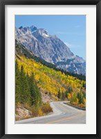 Framed Canada, Alberta, Jasper NP Scenic of The Icefields Parkway