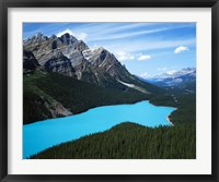 Framed Peyto Lake, Banff National Park, Alberta, Canada