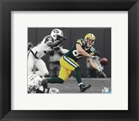 Framed Jordy Nelson 2014 Spotlight Action