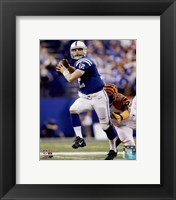 Framed Andrew Luck Touchdown Pass 2014 Playoff Action