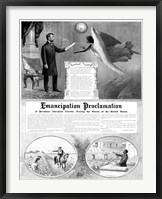 Framed President Abraham Lincoln and the Emancipation Proclamation