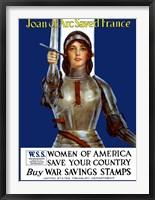 Framed Joan of Arc - Vintage WWI