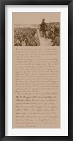 Framed President Abraham Lincoln and Gettysburg Address