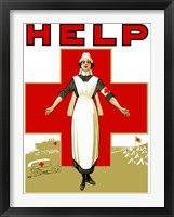 Framed Help - Red Cross Nurse