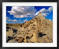 Framed Badlands at Dinosaur Provincial Park in Alberta, Canada