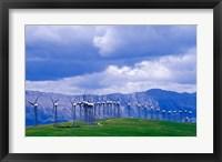 Framed Windmills at Pincher Creek, Alberta, Canada