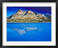 Framed Vimy Peak Reflects into Waterton Lake, Wateron Lakes National Park, Alberta, Canada