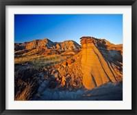 Framed Badlands, Rocks, Dinosaur Provincial Park, Alberta