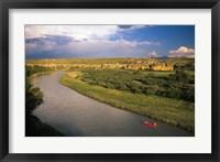 Framed Milk River at Writing On Stone Provincial Park, Alberta