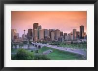 Framed Skyline of Calgary, Alberta, Canada