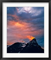 Framed Alberta, Mt Chephren, Sunset light in Banff NP