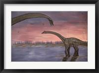 Framed Town Dinosaur Mural, Drumheller, Alberta, Canada