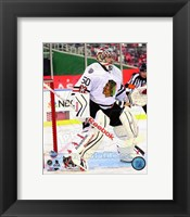 Framed Corey Crawford 2015 NHL Winter Classic Action