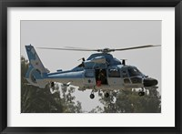 Framed AS-565 Atalef of the Israeli Air Force in a rescue demonstration