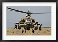 Framed AH-64A Peten attack helicopter