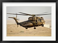 Framed CH-53 Yasur 2000 of the Israeli Air Force in a rescue demonstration