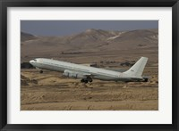 Framed Boeing 707 Re'em of the Israeli Air Force over Israel
