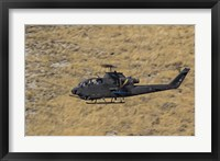 Framed AH-1F Tzefa of the Israeli Air Force flying over Israel