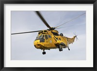 Framed Westland WS-61 Sea King helicopter of the Royal Air Force