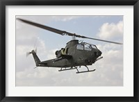 Framed AH-1S Tzefa attack helicopter of the Israeli Air Force