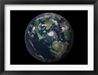 Framed Planet Earth 90 million years ago during the Late Cretaceous Period
