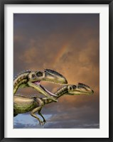 Framed Zupaysaurus rougieri, a theropod dinosaur of the Jurassic Period
