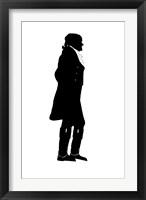 Framed Silhouette of President Thomas Jefferson