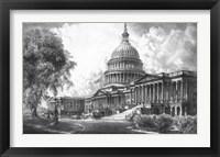 Framed US Capitol Building (digitally restored)